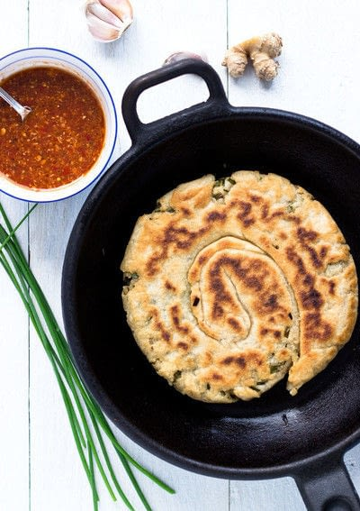 How to cook okonomiyaki. Yeast Dough Gluten Free Scallion Pancake - Step 5