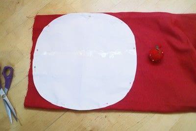 How to make a shaped cushion. Pincushion Cushion - Step 1