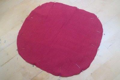 How to make a shaped cushion. Pincushion Cushion - Step 3