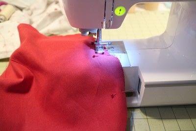 How to make a shaped cushion. Pincushion Cushion - Step 4