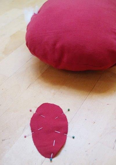 How to make a shaped cushion. Pincushion Cushion - Step 9