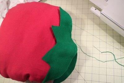 How to make a shaped cushion. Pincushion Cushion - Step 11