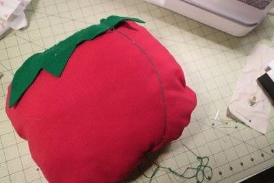 How to make a shaped cushion. Pincushion Cushion - Step 12