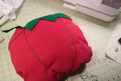 How to make a shaped cushion. Pincushion Cushion - Step 13