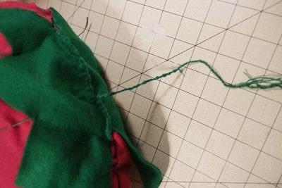 How to make a shaped cushion. Pincushion Cushion - Step 14
