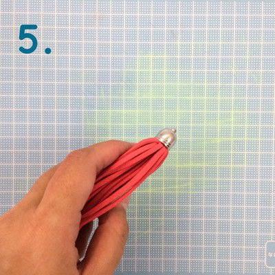 How to make a tassels. Diy Suede Tassels - Step 5