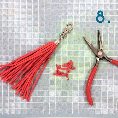 How to make a tassels. Diy Suede Tassels - Step 8
