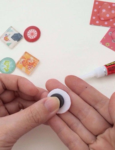 How to make a magnet. Glass Marble Magnets - Step 4