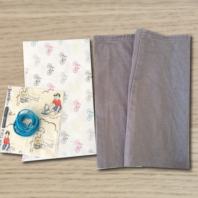 How to make a drawstring pouch. Draw String Bag - Step 1