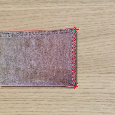How to make a drawstring pouch. Draw String Bag - Step 2