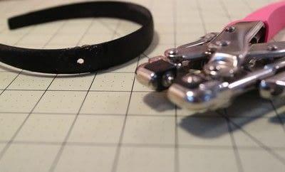 How to make an embellished headband. Snap On Headband - Step 2
