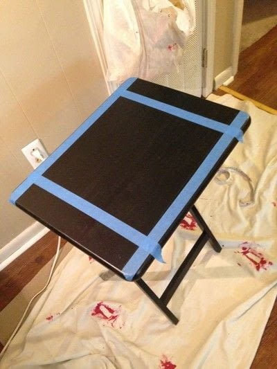 How to make a painted table. Folding Checker Table - Step 1