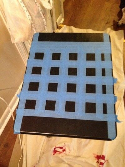 How to make a painted table. Folding Checker Table - Step 5