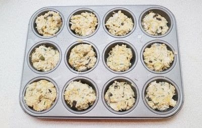 How to bake a savoury muffin. Cheddar, Olive & Chive Muffins - Step 5