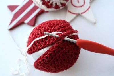 How to make a toy ball. Christmas Ball - Step 7