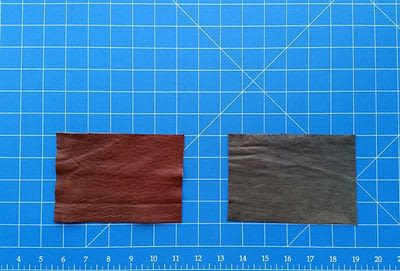 How to sew a leather pouch. Two Tone Recycled Leather Purse - Step 2