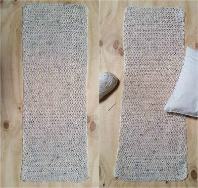 How to stitch a knit or crochet cushion. Chunky Crochet Cushion Cover - Step 4