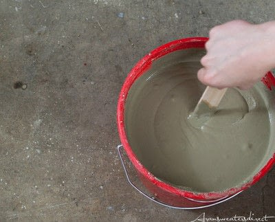 How to make a recycled candle holder. Diy Cement & Copper Candle Centerpiece - Step 2