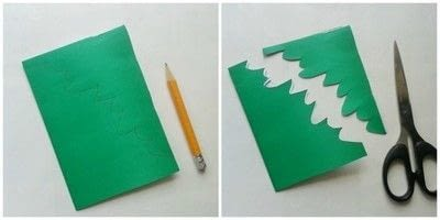 How to make a paper model. DIY Paper Maple Leaves - Step 2