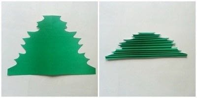 How to make a paper model. DIY Paper Maple Leaves - Step 3