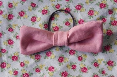 How to make a bobble / tie. Hair Bow - Step 6
