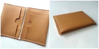 How to make a pouch, purse or wallet. Diy Card Holder - Step 4