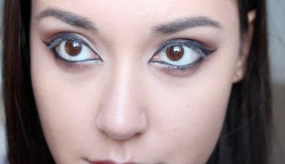How to creat an Arabic eye makeup look. Arabian Smokey Blue Eye Makeup  - Step 21