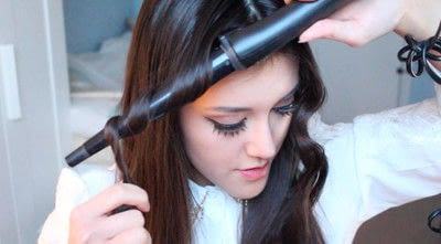 How to style a curly hairstyle / wavy hairstyle. Persian Princess   Wavy Hair - Step 6