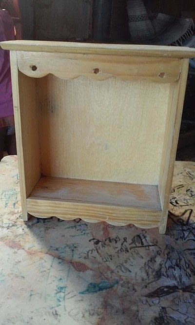 How to make a jewelry display. Jewelry Box Revamped - Step 1
