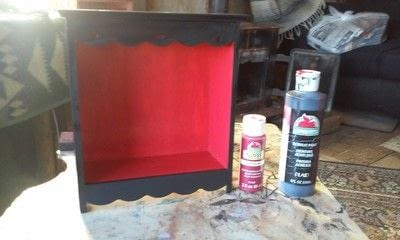 How to make a jewelry display. Jewelry Box Revamped - Step 2