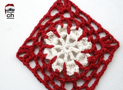 How to crochet a granny square. Snowflake Granny - Step 1