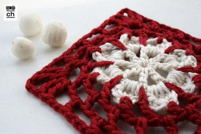 How to crochet a granny square. Snowflake Granny - Step 2