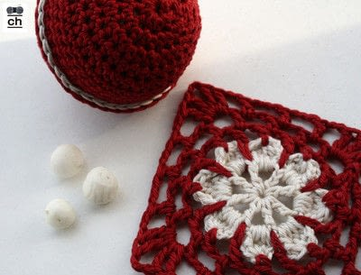 How to crochet a granny square. Snowflake Granny - Step 3