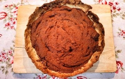 How to bake a sweet pie / sweet tart. Chocolate, Ginger & Apricot Frangipane Tart - Step 8