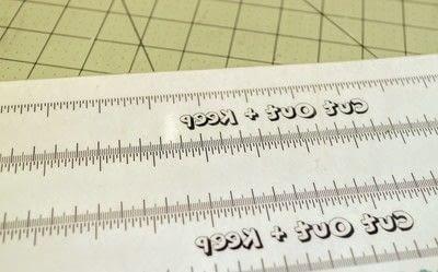 How to make stationery. Diy Ruler - Step 1