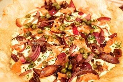 How to bake a quiche. Smoked Salmon & Caper Tart - Step 7