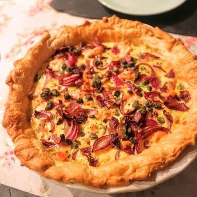 How to bake a quiche. Smoked Salmon & Caper Tart - Step 8
