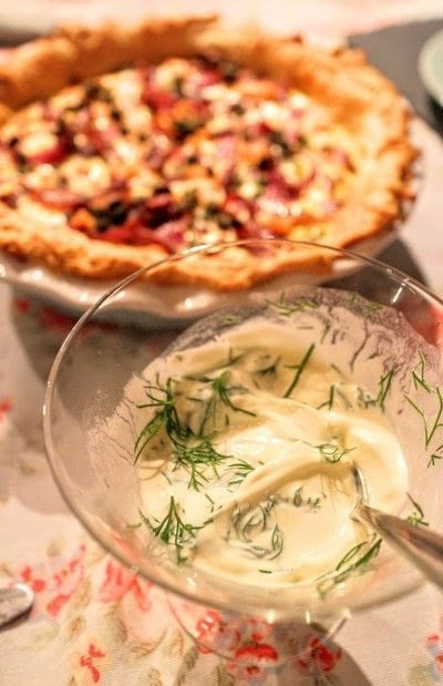 How to bake a quiche. Smoked Salmon & Caper Tart - Step 9