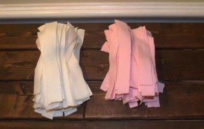 How to make a rag rug. Diy Shag Rag Rug Tutorial - Step 3
