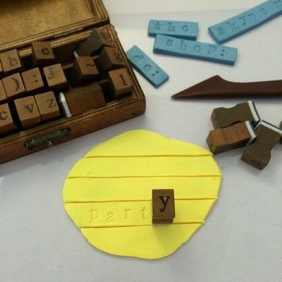 How to make a clay magnet. Word Clay Magnets - Step 3