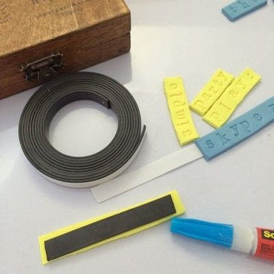 How to make a clay magnet. Word Clay Magnets - Step 5