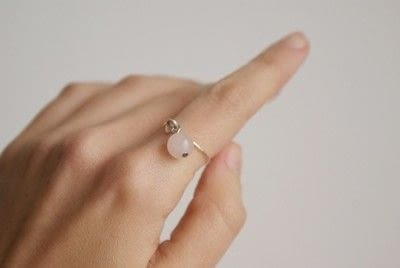 How to make a wire wrapped ring. Tiny Ring With Charm (Diy) - Step 6