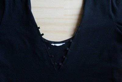 How to make a lace-up top. Lace Up Bodysuit (Diy) - Step 4