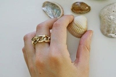 How to make a chain ring. Chained Ring (Diy) - Step 3