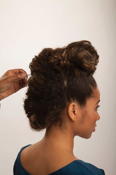 How to style a mohawk hairstyle. Fancy Fauxhawk - Step 16