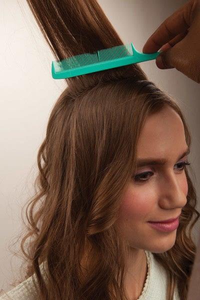 How to style a crown braid. Half Crown Braid - Step 2