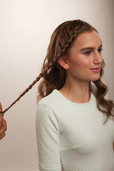 How to style a crown braid. Half Crown Braid - Step 5