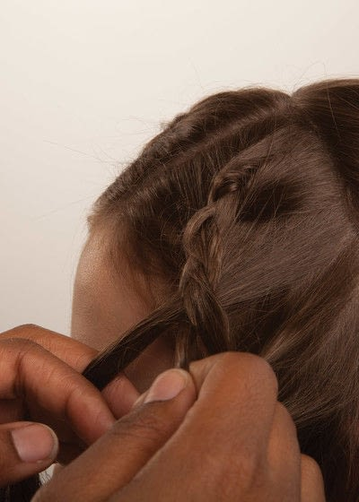 How to style a crown braid. Half Crown Braid - Step 7