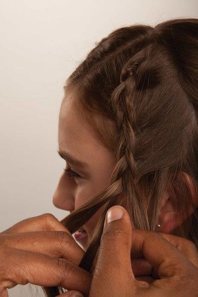 How to style a crown braid. Half Crown Braid - Step 8