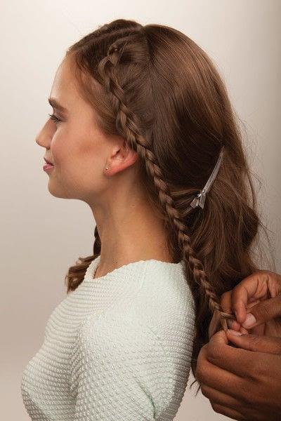 How to style a crown braid. Half Crown Braid - Step 10